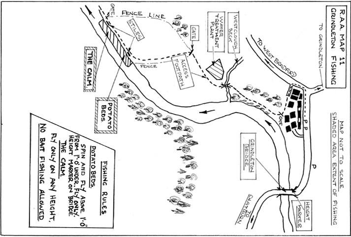 Grindleton River Map