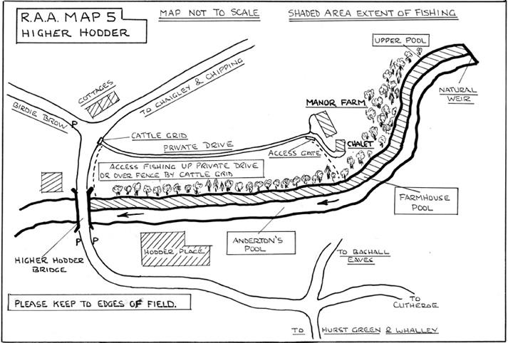 Higher Hodder River Map