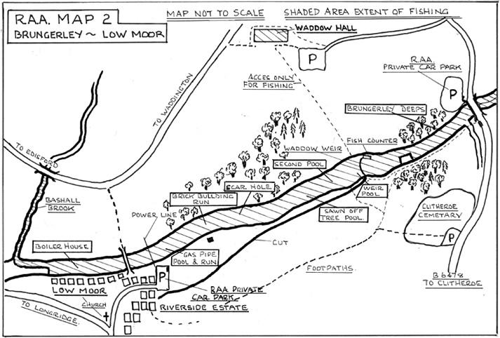 Brungerley: Low Moor River Map