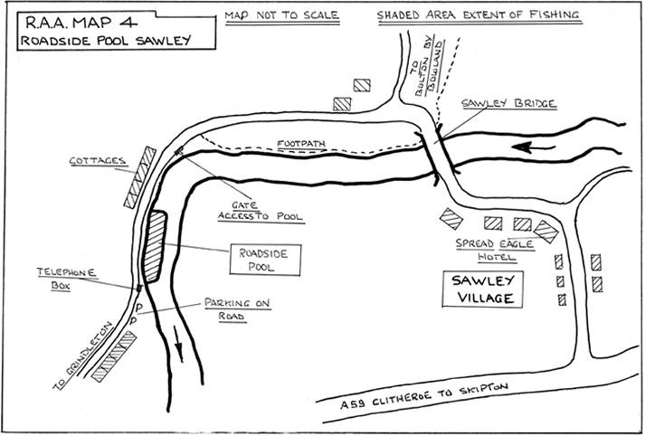 Roadside Pool: Sawley River Map