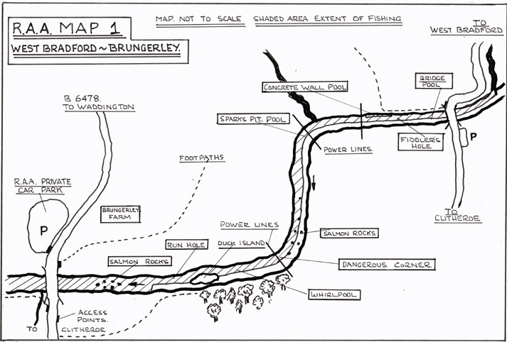 West Bradford: Brungerley River Map